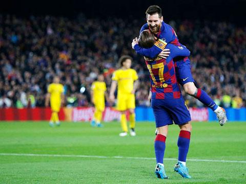 Messi là người kiến tạo để Griezmann ghi bàn trong trận thắng Villarreal 4-1