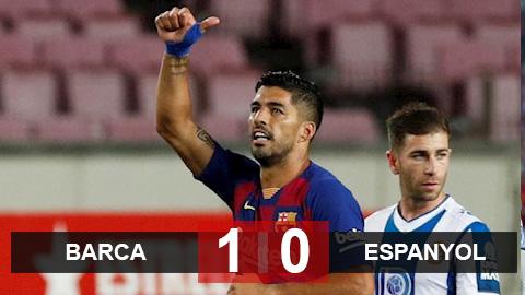 Barca 1-0 Espanyol: Fati nhận thẻ đỏ, Barca thắng nhọc nhờ Suarez