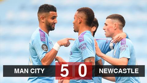 Kết quả Man City 5-0 Newcastle: Dàn sao đua nhau lập...
