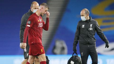 Liverpool mất Henderson đến hết mùa vì chấn thương