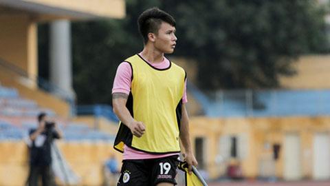 Tiền vệ Quang Hải sẵn sàng ra sân đấu SHB.ĐN