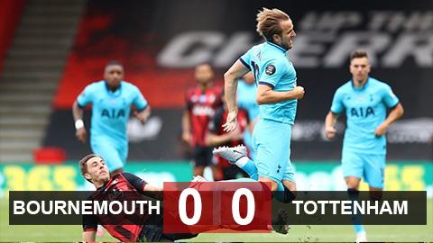 """Bournemouth 0-0 Tottenham: Kane gây thất vọng, """"Gà trống"""" suýt bị quay"""