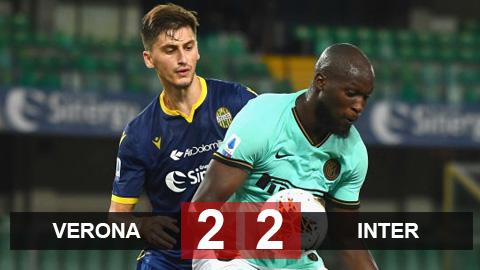 Verona 2-2 Inter: Lukaku và Sanchez im tiếng, Inter bị cầm hòa phút cuối