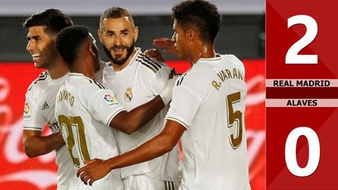 Real Madrid 2-0 Alaves (Vòng 35 La Liga 2019/20)