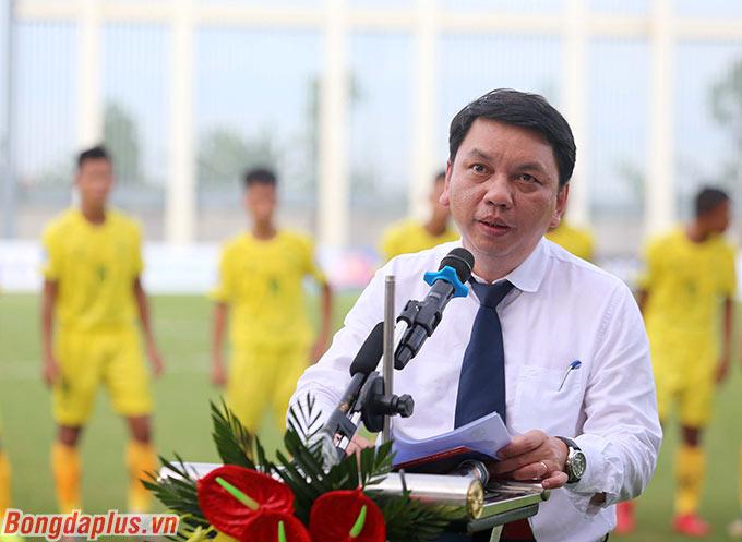 Chiều 10/7, lễ khai mạc giải hạng Nhì Quốc gia - On Sports 2020 diễn ra. Ông Lê Hoài Anh, Tổng thư ký VFF, Trưởng BTC giải hạng Nhì phát biểu khai mạc