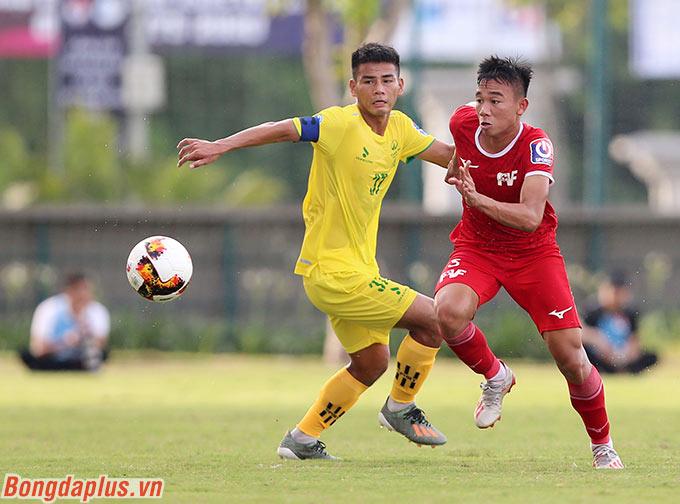 Đội trưởng Hữu Tuấn của Phú Thọ chơi nổi bật trong trận đấu này
