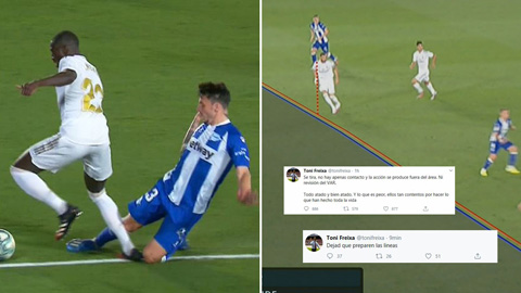 2 bàn thắng của Real trong trận đấu với Alaves có hợp lệ?