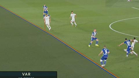 VAR xác nhận Benzema không việt vị trong bàn thắng thứ 2 của Real