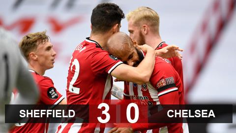 Kết quả Sheffield United 3-0 Chelsea: Thầy trò Lampard nguy cơ bị đánh bật khỏi Top 4