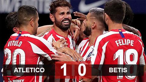 Kết quả Atletico 1-0 Betis: Costa lập công ngày trở lại, Atletico có vé dự Champions League mùa sau