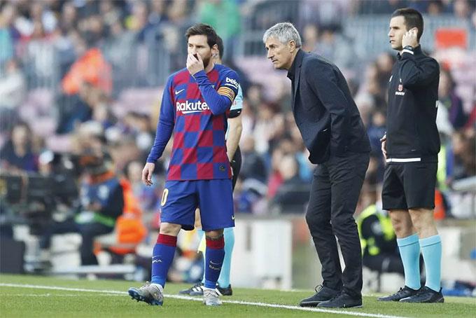 Messi đang thường xuyên chơi ở vị trí hộ công