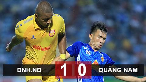 DNH Nam Định 1-0 Quảng Nam: Nam Định đẩy Quảng Nam xuống bét bảng