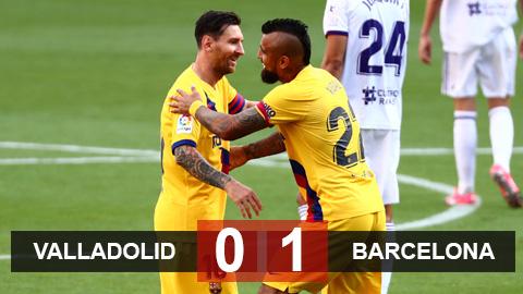 Valladolid 0-1 Barca: Messi góp sức cùng Vidal, Barca tiếp tục níu chân Real