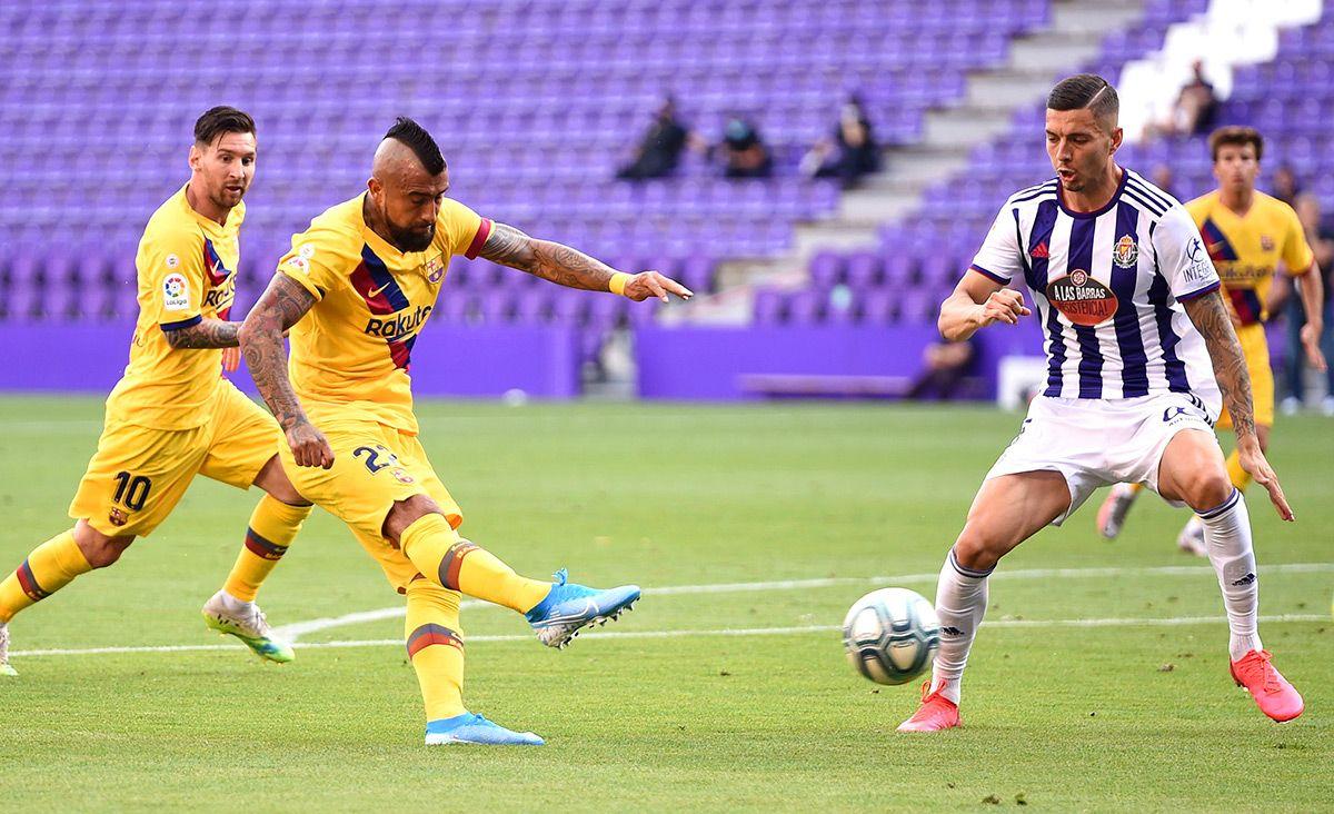 Bàn mở tỷ số của Vidal