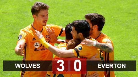Wolves 3-0 Everton: Hủy diệt Everton, Wolves chỉ còn kém M.U 3 điểm