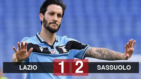 """Lazio 1-2 Sassuolo: Thua ngược, Lazio """"dâng"""" chức vô địch cho Juventus"""