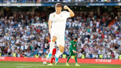 Hazard sẽ ghi bàn giúp Real thắng Granada để duy trì khoảng cách 4 điểm với Barca