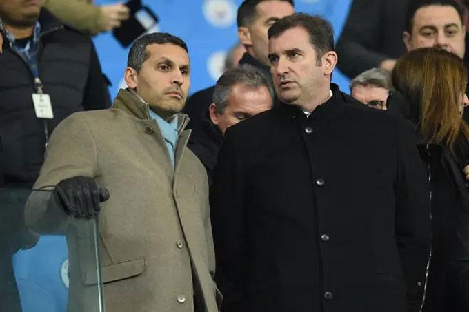 Chủ tịch của Manchester City Khaldoon al-Mubarak và CEO Ferran Soriano