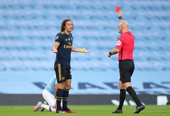 Những sai lầm của Luiz chỉ ra lỗi hệ thống ở khả năng phòng ngự của Arsenal