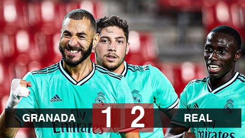 Kết quả Granada 1-2 Real Madrid: Benzema giúp Real chạm 1 tay vào chức vô địch La Liga
