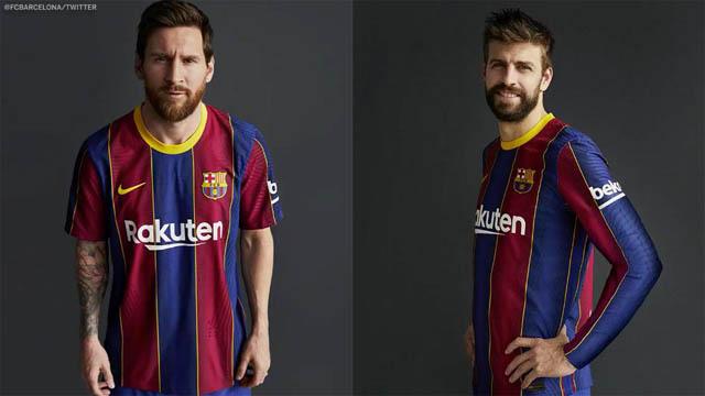 Áo đấu mùa mới của Barcelona