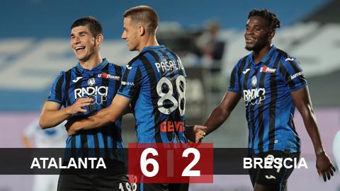 Atalanta 6-2 Brescia: Phả hơi nóng vào gáy Juventus