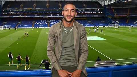 Tân binh Ziyech dự khán trận đấu của Chelsea