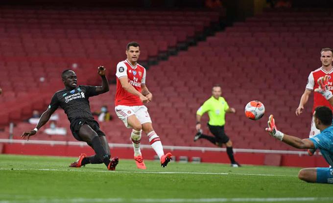 Mane mở tỷ số cho Liverpool ở phút 20