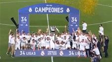 Phút giây Real Madrid nâng cúp vô địch La Liga lần thứ 34