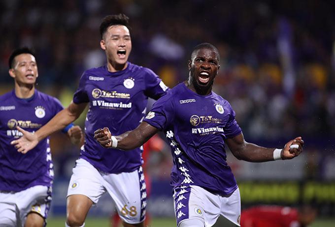 Hà Nội FC thắng sát nút Hải Phòng - Ảnh: Phan Tùng