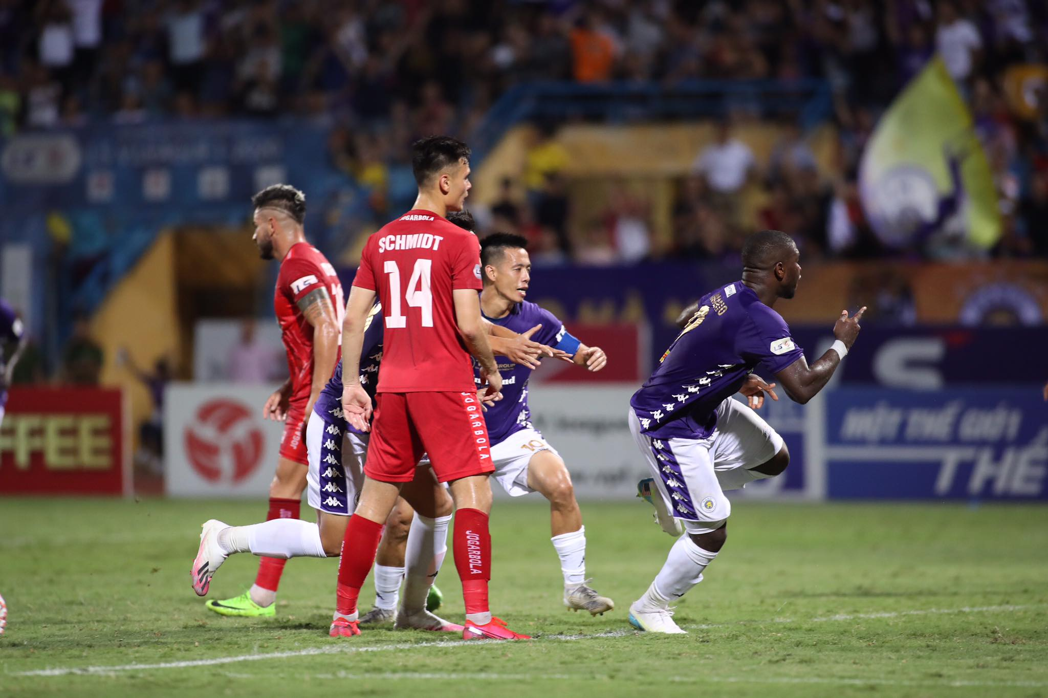 Rimario góp công lớn trong bàn thắng mở tỷ số của Hà Nội - Ảnh: Phan Tùng