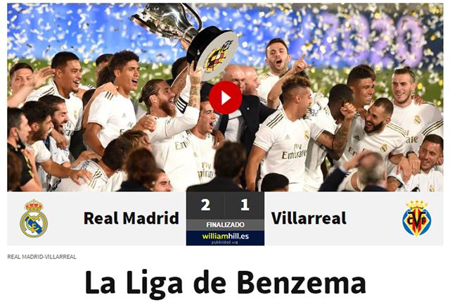 Tờ AS: Giải đấu của Benzema