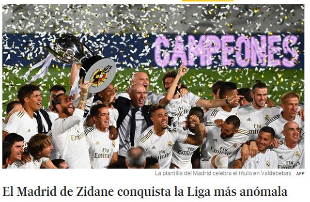 Tờ El Pais: Real của Zidane chinh phục giải đấu theo cách dị thường nhất