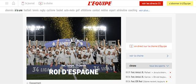 Tờ L'Equipe: Ông vua của Tây Ban Nha