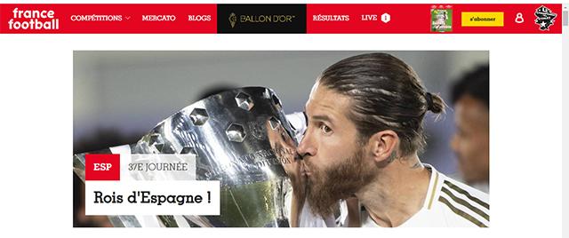 Tờ France Football: Ông vua của Tây Ban Nha