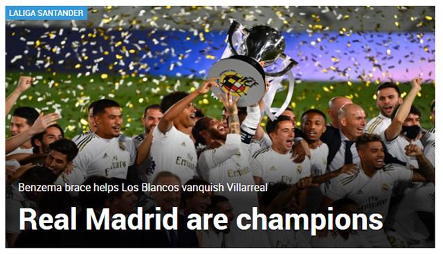 Tờ Marca: Real Madrid là nhà vô địch