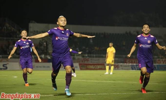 Quốc Phương ấn định chiến thắng 3-0 cho Sài Gòn FC trước DNH Nam Định