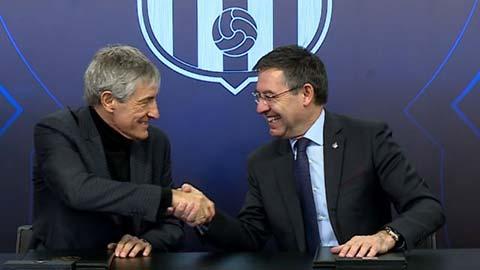 Barca không sa thải Setien trước Champions League