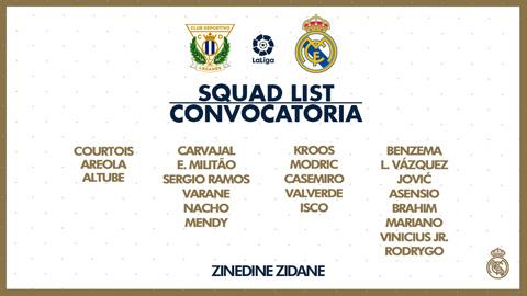 Danh sách cầu thủ Real đá trận cuối cùng của mùa giải tại La Liga
