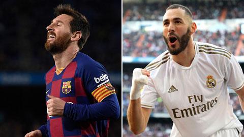 Bùng cháy đua song mã Pichichi giữa Messi và Benzema