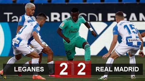 Leganes 2-2 Real: Cầm chân tân vương, Leganes vẫn xuống hạng