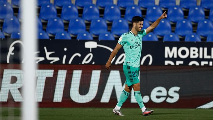 Asensio ghi bàn thắng cuối cùng cho Real ở mùa giải này tại La Liga
