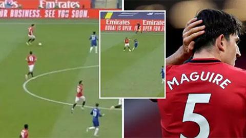Maguire tấu hài với pha xử lý thua cầu thủ nghiệp dư