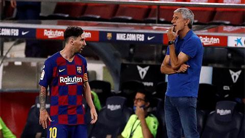 Messi và Setien ngồi lại vì Champions League