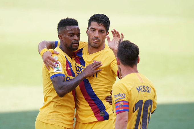 Các cầu thủ Barca đã có 1 trận đấu dễ dàng trước Alaves