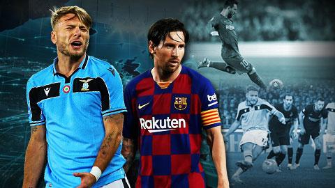 Immobile đen đủi ngang Messi
