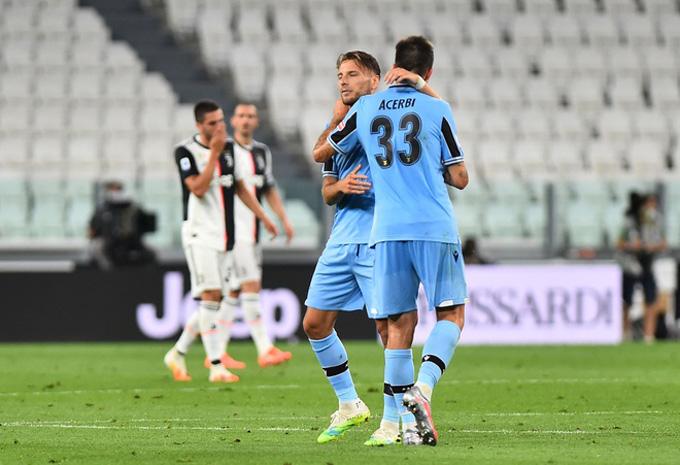 Lazio chỉ gỡ được 1 bàn do công của Immobile