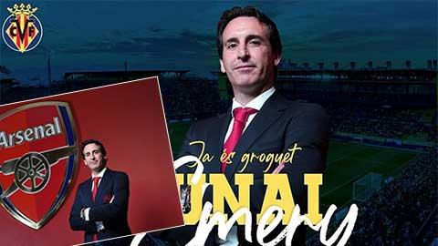 HLV Emery  ký hợp đồng 3 năm với Villarreal, ra mắt đội bóng mới bằng ảnh cũ ở Arsenal