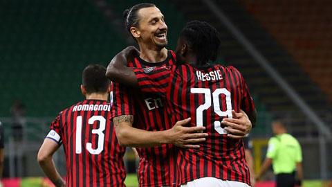 Có Ibra (giữa) trong đội hình, Milan sẽ có ít nhất một trận hòa trên sân nhà khi đón tiếp Atalanta