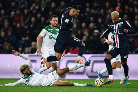 PSG sẽ dễ dàng vượt qua St.Etienne